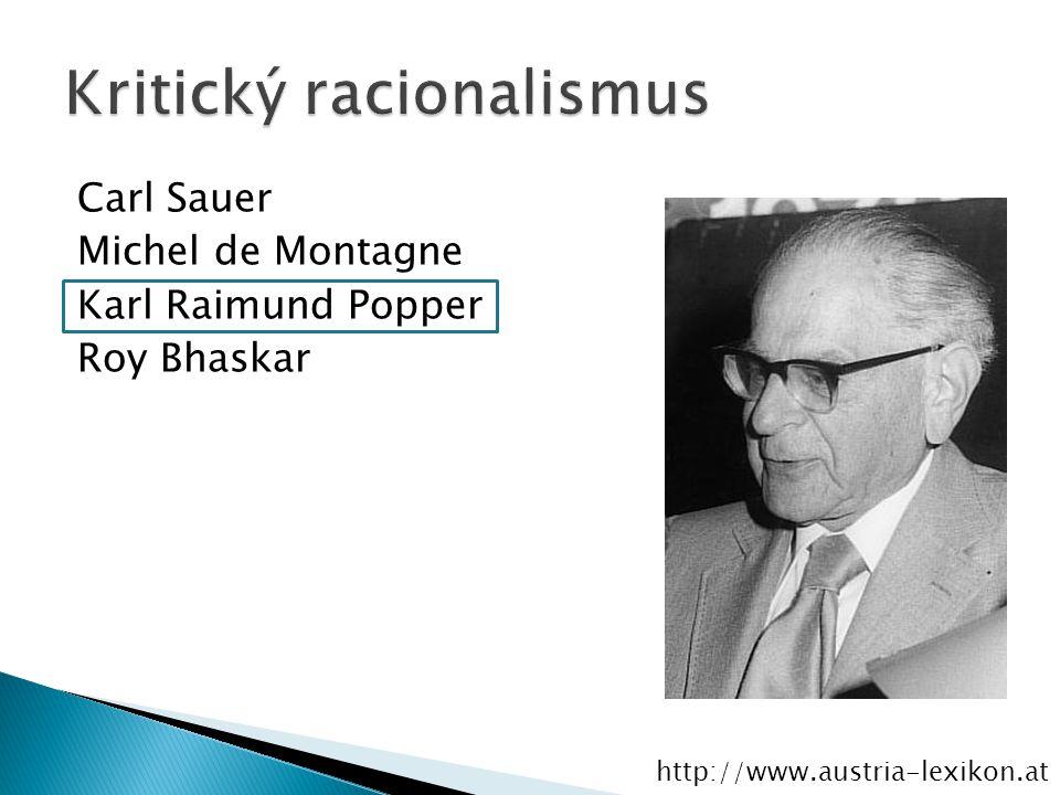 Carl Sauer Michel de Montagne Karl Raimund Popper Roy Bhaskar http://www.austria-lexikon.at