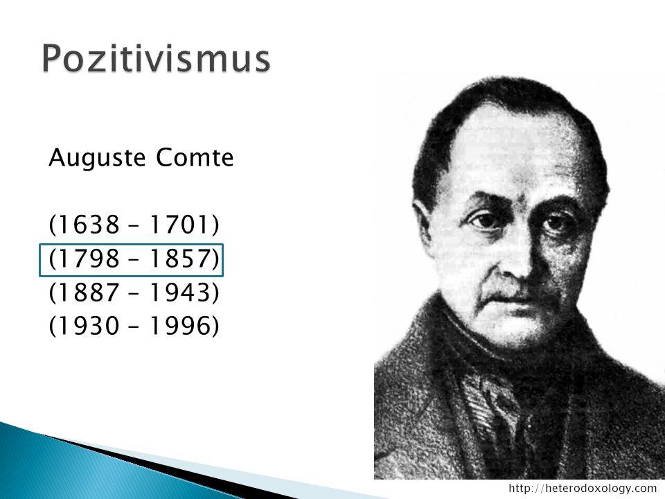 Auguste Comte (1638 – 1701) (1798 – 1857) (1887 – 1943) (1930 – 1996) http://heterodoxology.com