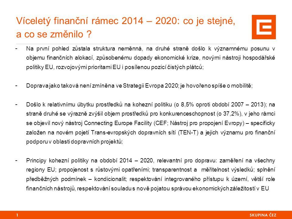Víceletý finanční rámec 2014 – 2020: co je stejné, a co se změnilo ? - Na první pohled zůstala struktura neměnná, na druhé straně došlo k významnému p