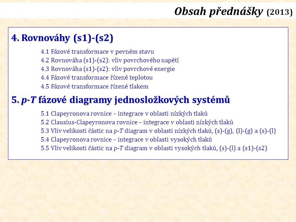 Obsah přednášky (2013) 4.