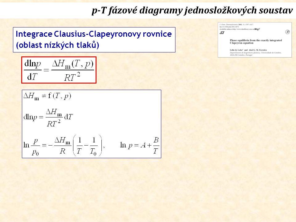Integrace Clausius-Clapeyronovy rovnice (oblast nízkých tlaků)