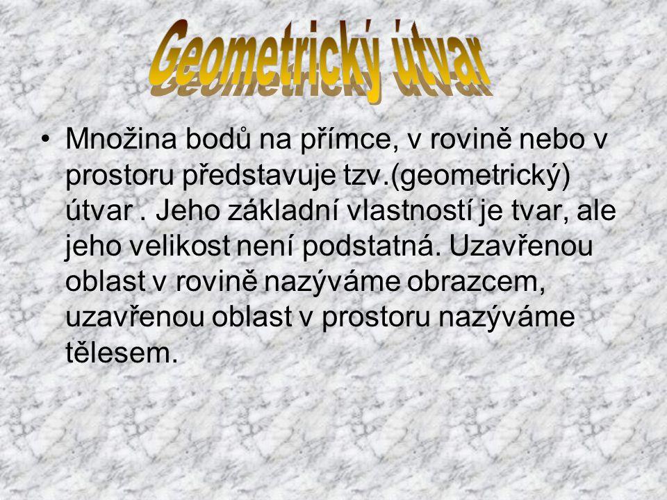 Základní geometrické útvary jsou útvary, z nichž se odvozují další geometrické útvary.