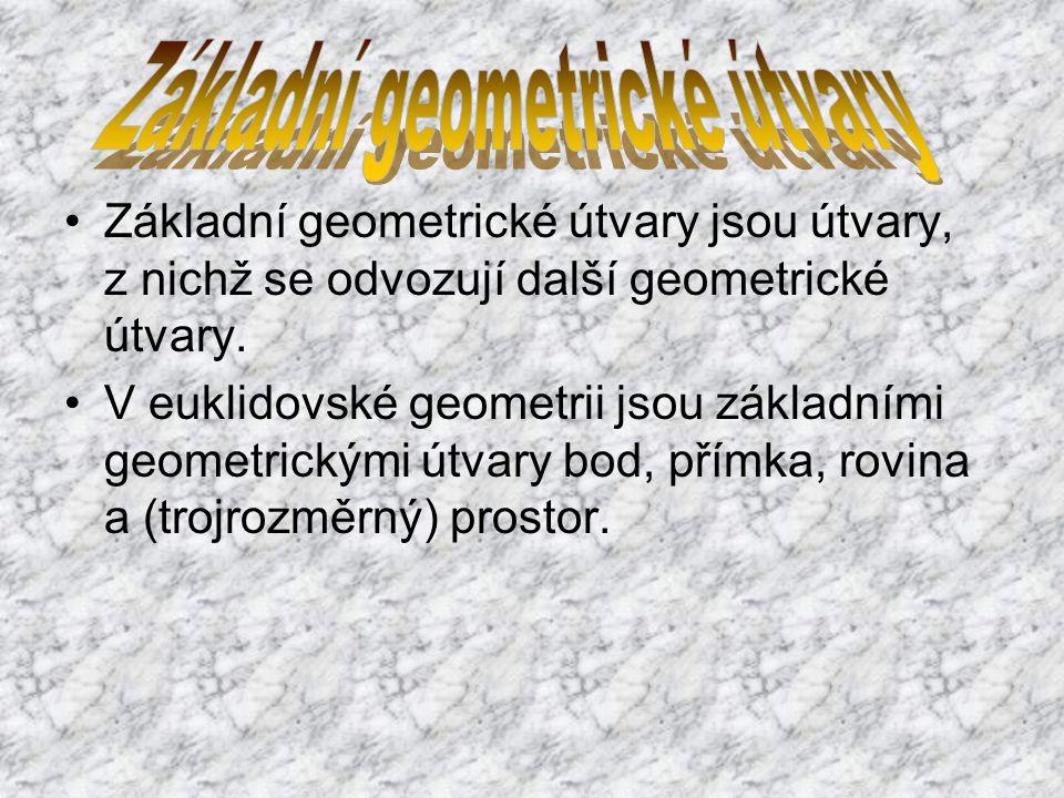 Lineární geometrické útvary jsou takové geometrické útvary, které jsou částí (podmnožinou) přímky.