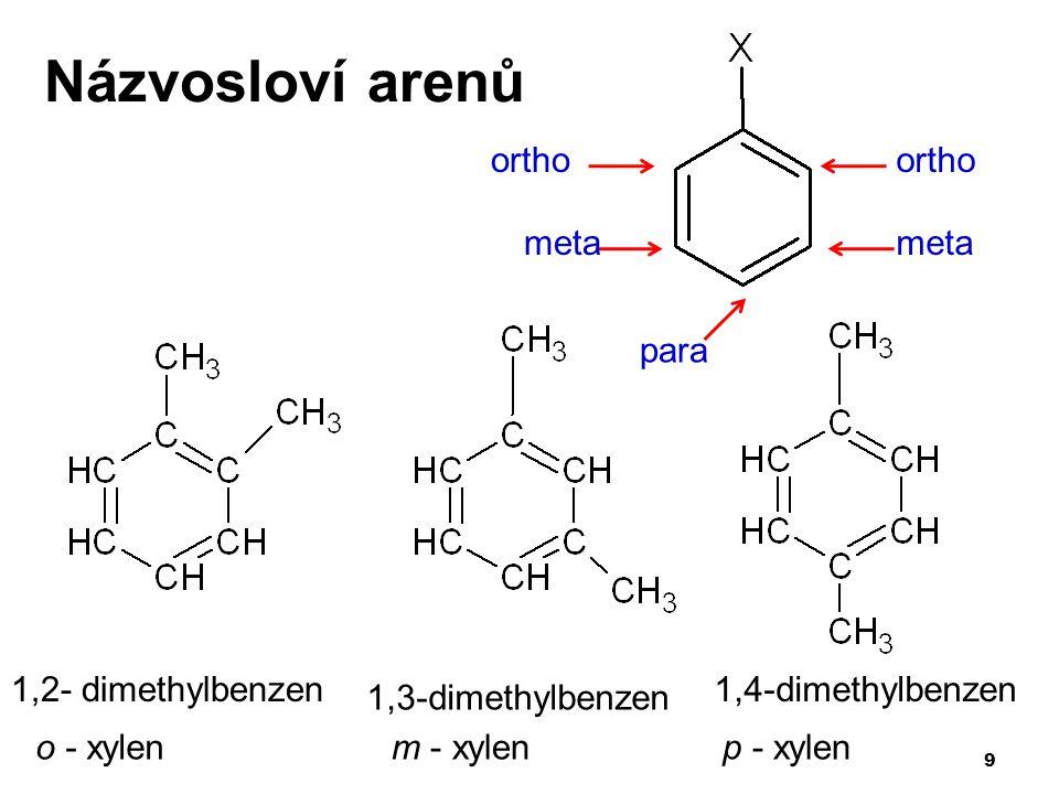 20 Alkylace – připojení alkylu katalyzátor - halogenidy kovů reakce arenů s alkylhalogenidy toluen