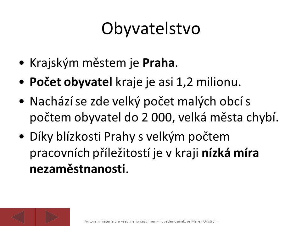 Autorem materiálu a všech jeho částí, není-li uvedeno jinak, je Marek Odstrčil. Obyvatelstvo Krajským městem je Praha. Počet obyvatel kraje je asi 1,2