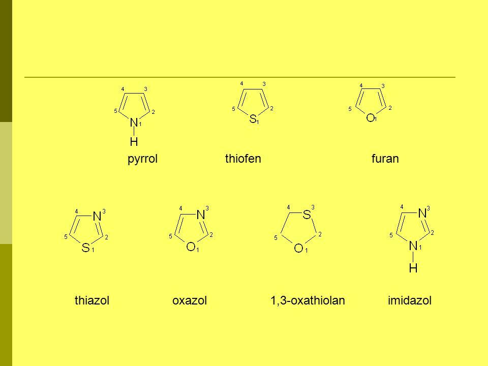 pyrrolthiofenfuran thiazoloxazol1,3-oxathiolan imidazol