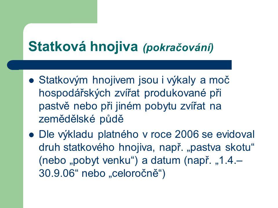 """Jak zaznamenat """"organická hnojiva a půdní přídavky ve smyslu Nařízení ES č."""