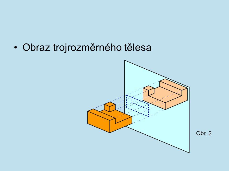 Obraz trojrozměrného tělesa Obr. 2