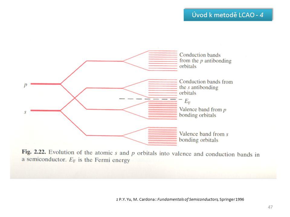 47 Úvod k metodě LCAO - 4 z P.Y. Yu, M. Cardona : Fundamentals of Semiconductors, Springer 1996
