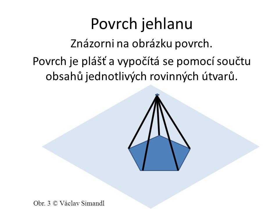 Síť pravidelného 4-bokého jehlanu Načrtni síť 4-bokého jehlanu. Obr. 4 © Václav Simandl