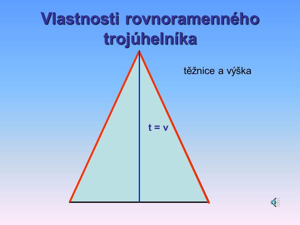 Vlastnosti rovnoramenného trojúhelníka Další
