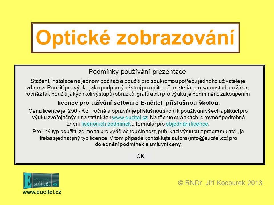 Optické zobrazování www.eucitel.cz © RNDr.