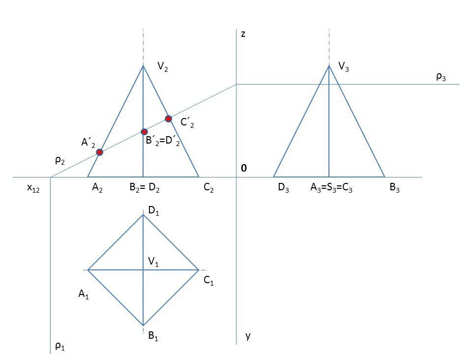 0 x 12 z y V2V2 A2A2 B 2 = D 2 C2C2 D3D3 A 3 =S 3 =C 3 B3B3 V3V3 A1A1 B1B1 C1C1 D1D1 ρ1ρ1 ρ2ρ2 ρ3ρ3 A´ 2 B´ 2 =D´ 2 C´ 2 V1V1 A´ 1 C´ 1 A´ 3 D´ 3 B´ 3 C´ 3