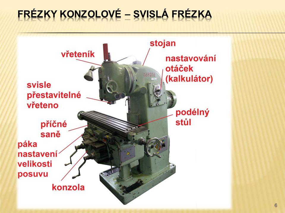 37  Frézky existují ve více variantách lišících se podle jejich konstrukčních znaků a podle druhu prací, pro které jsou určeny.
