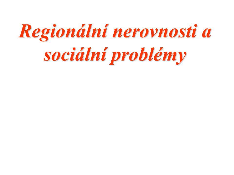Nový typ vymezení: regiony s vysoce nadprůměrnou nezaměstnaností území okresů ve kterých souhrnné hodnocení nezaměstnanosti překračuje o 30 a více procentních bodů průměrnou hodnotu za území celé České republiky, a která nejsou zařazena mezi strukturálně postižené nebo hospodářsky slabé regiony.