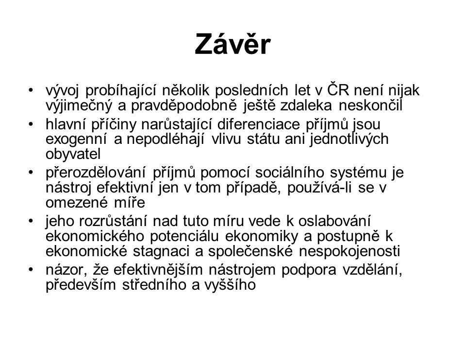 Závěr vývoj probíhající několik posledních let v ČR není nijak výjimečný a pravděpodobně ještě zdaleka neskončil hlavní příčiny narůstající diferencia