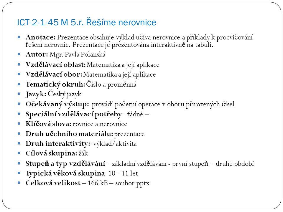 ICT-2-1-45 M 5.r.