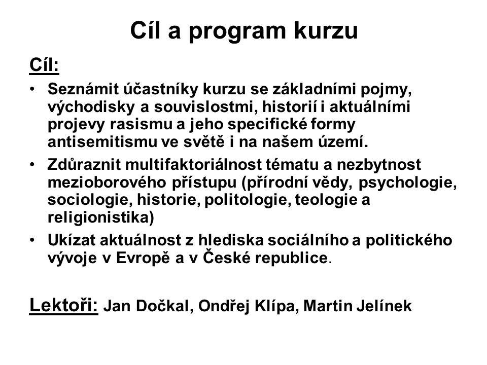 Témata: 1.Základní pojmy, biologická, psychologická, sociální, politická a náboženská východiska.