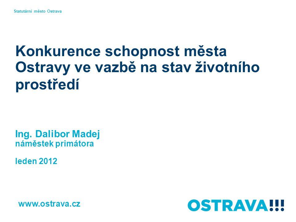 Konkurence schopnost města Ostravy ve vazbě na stav životního prostředí Ing.