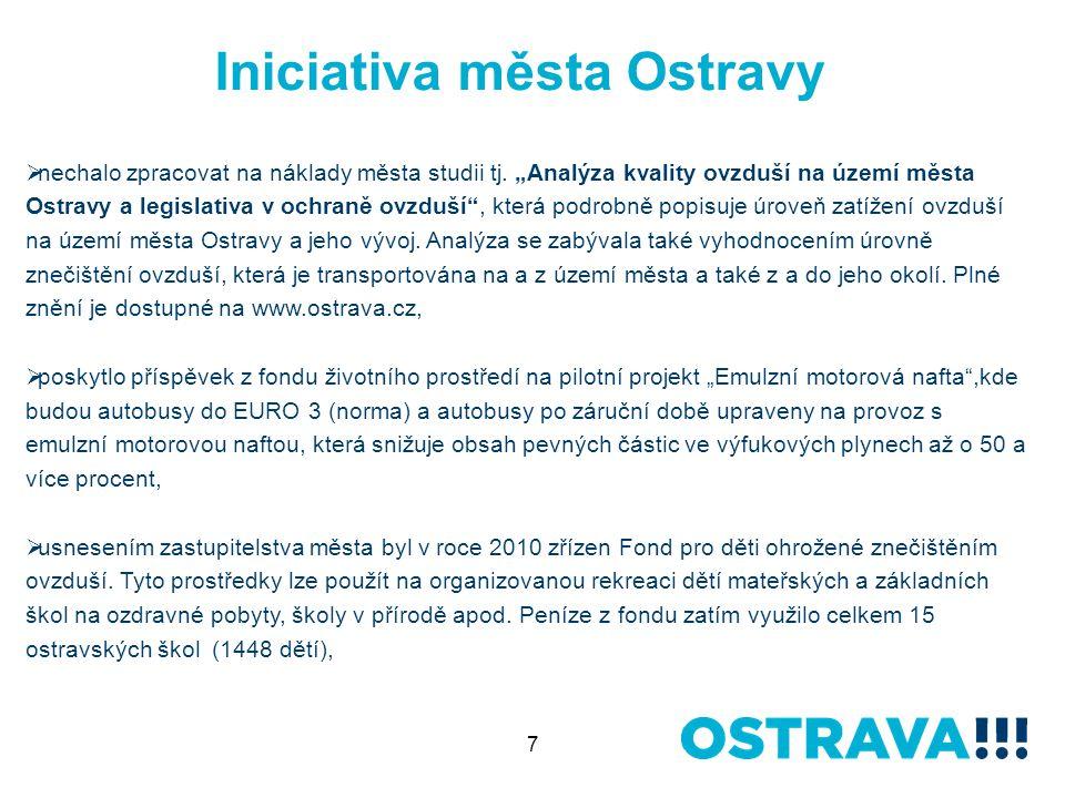 7 Iniciativa města Ostravy  nechalo zpracovat na náklady města studii tj.