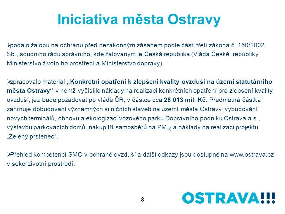 8 Iniciativa města Ostravy  podalo žalobu na ochranu před nezákonným zásahem podle části třetí zákona č.