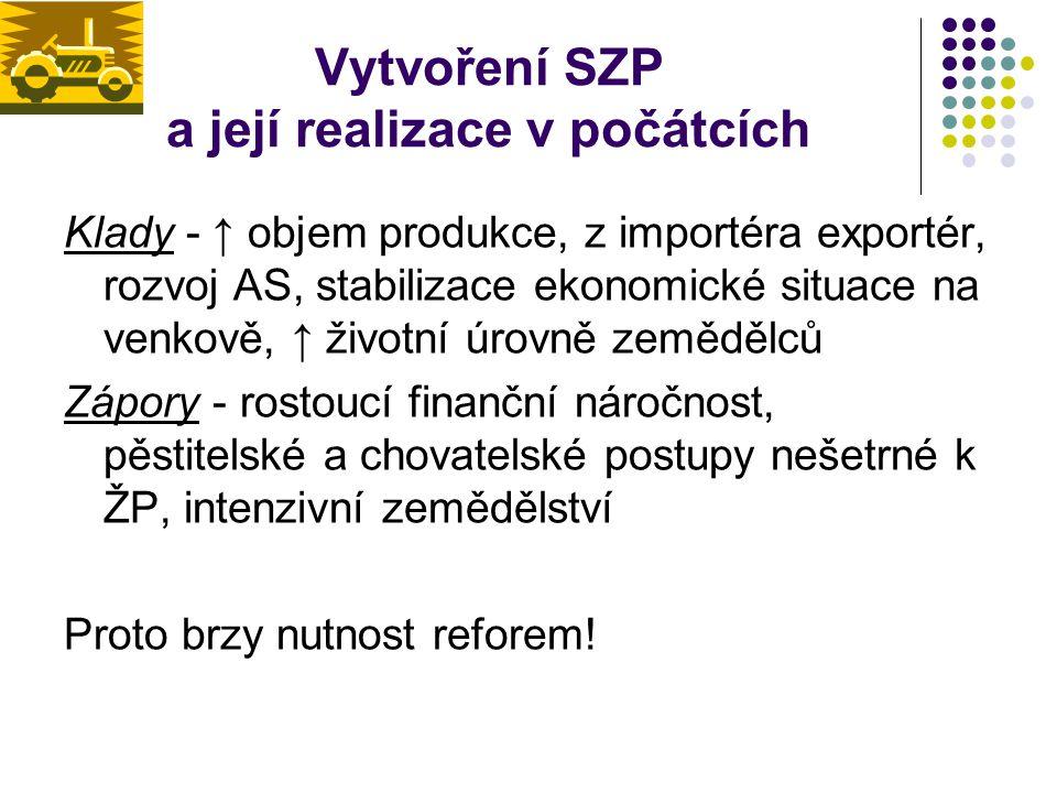 Základní principy SZP 1) Princip jednotného společného trhu – v rámci EU volný pohyb produktů, tj.