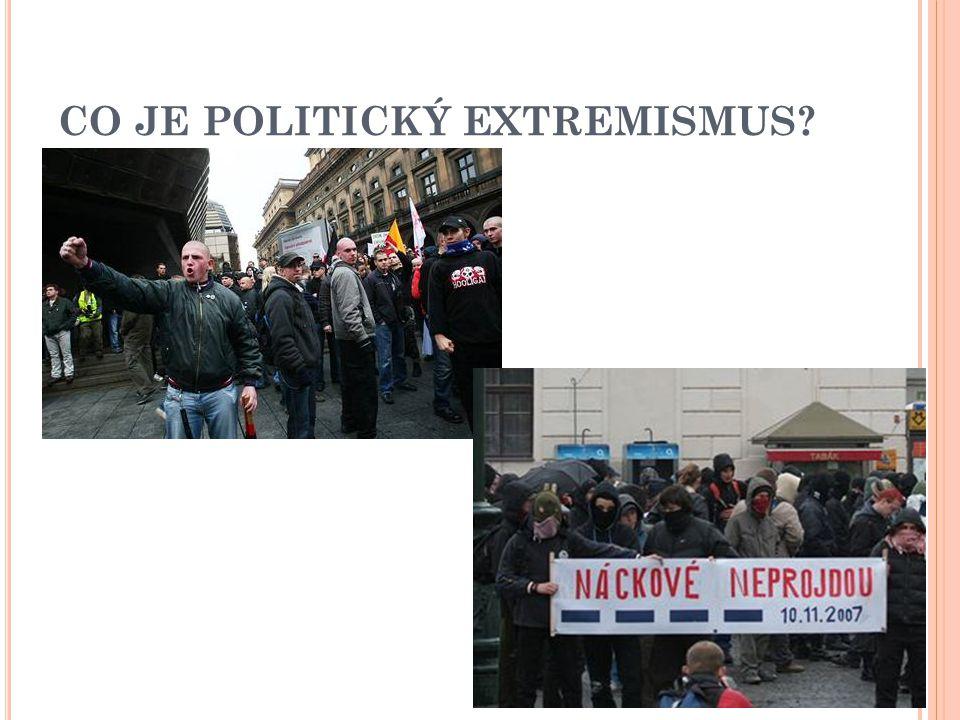 CO JE POLITICKÝ EXTREMISMUS?