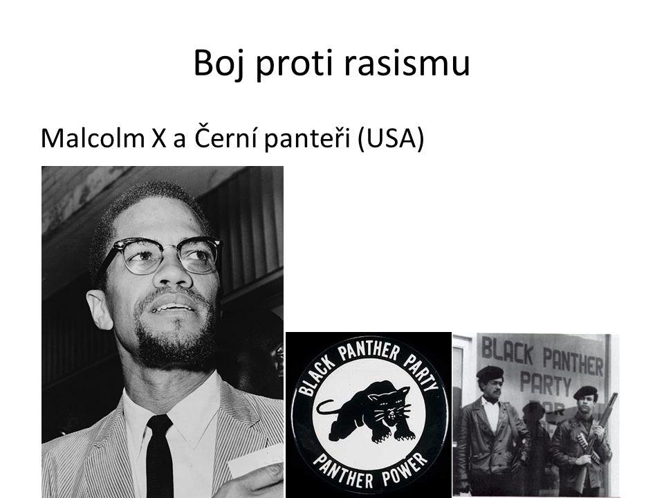 Boj proti rasismu Malcolm X a Černí panteři (USA)