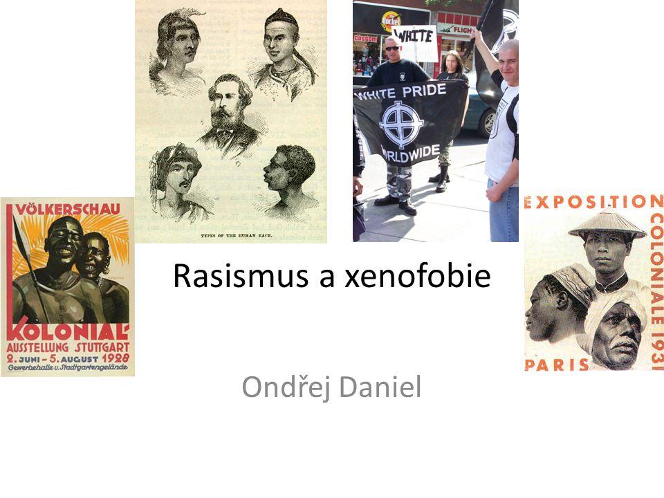 Rasismus Přesvědčení o nadřazenosti vlastní rasy nad ostatními Otázka samotné existence ras – jejich míšení a řada podskupin