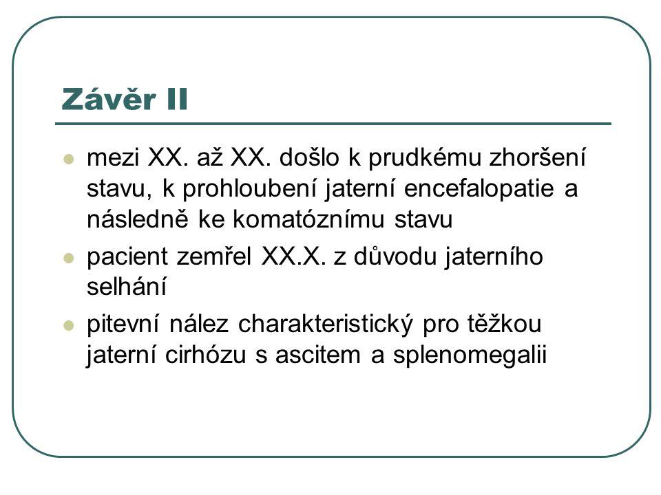 Závěr II mezi XX.až XX.