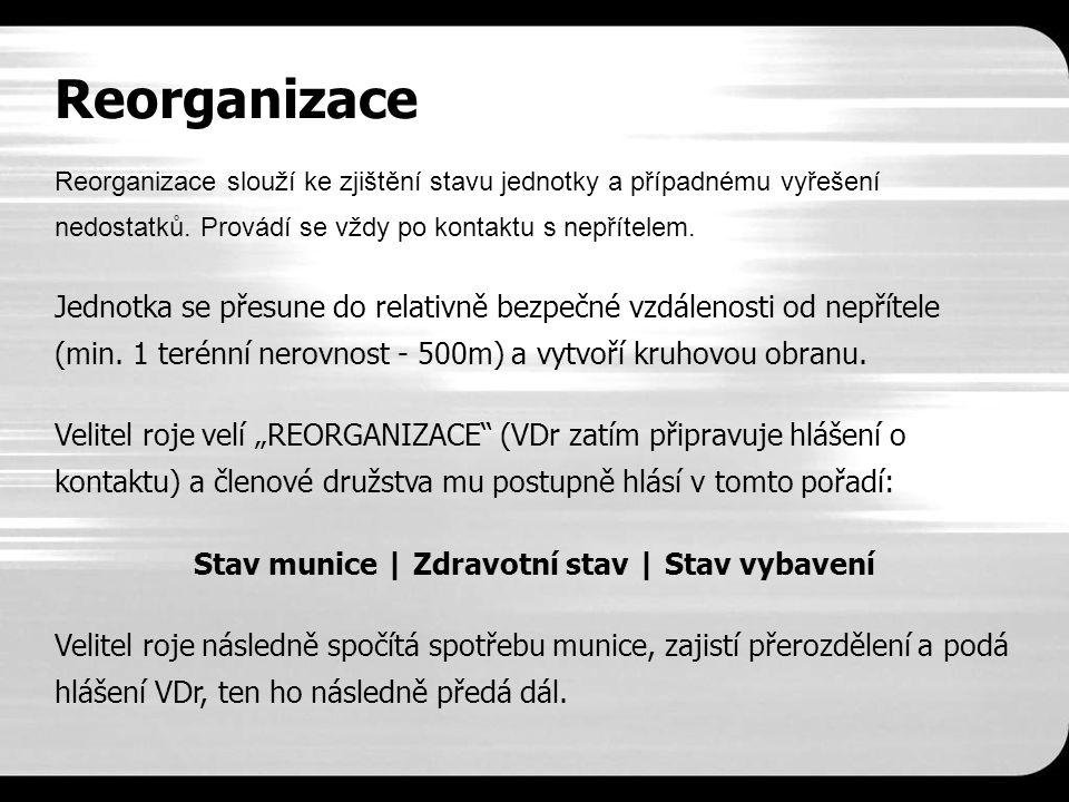 Reorganizace Reorganizace slouží ke zjištění stavu jednotky a případnému vyřešení nedostatků.
