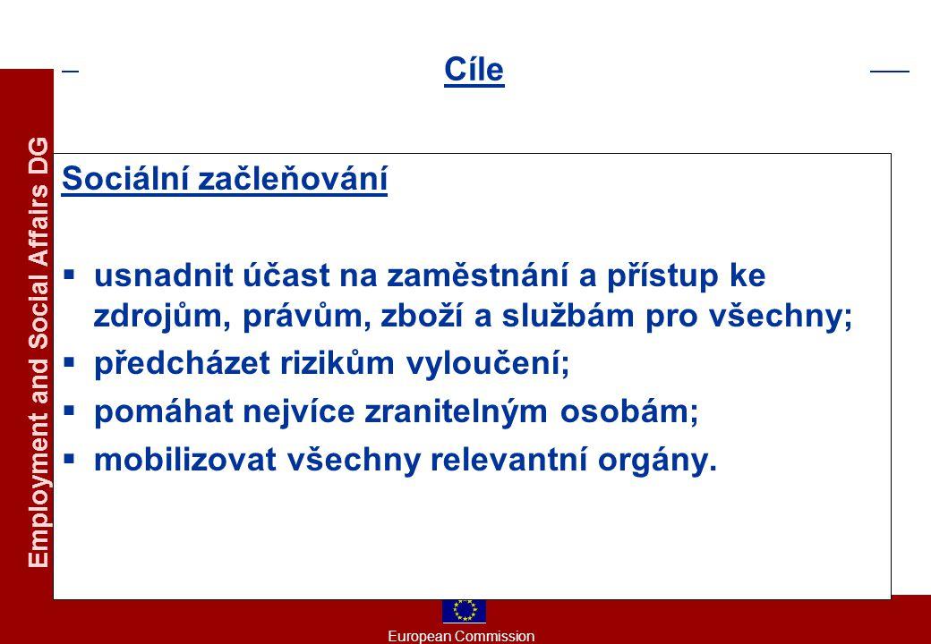 European Commission Employment and Social Affairs DG Směr č.