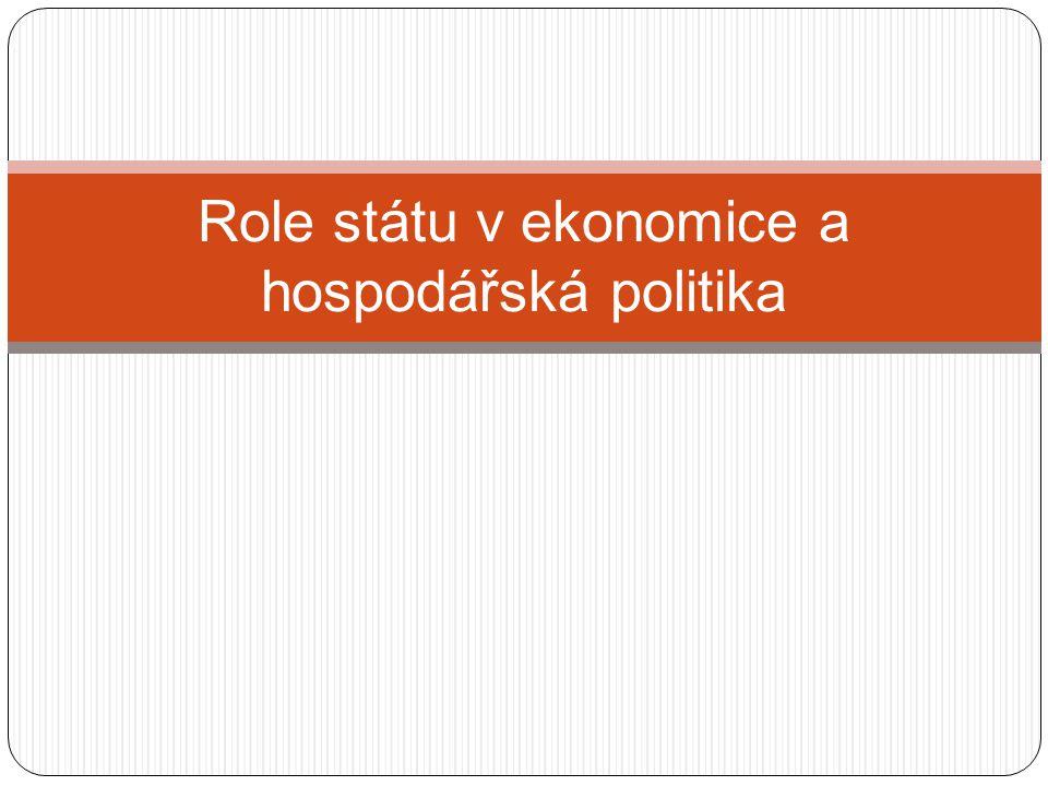 Role státu v ekonomice a hospodářská politika