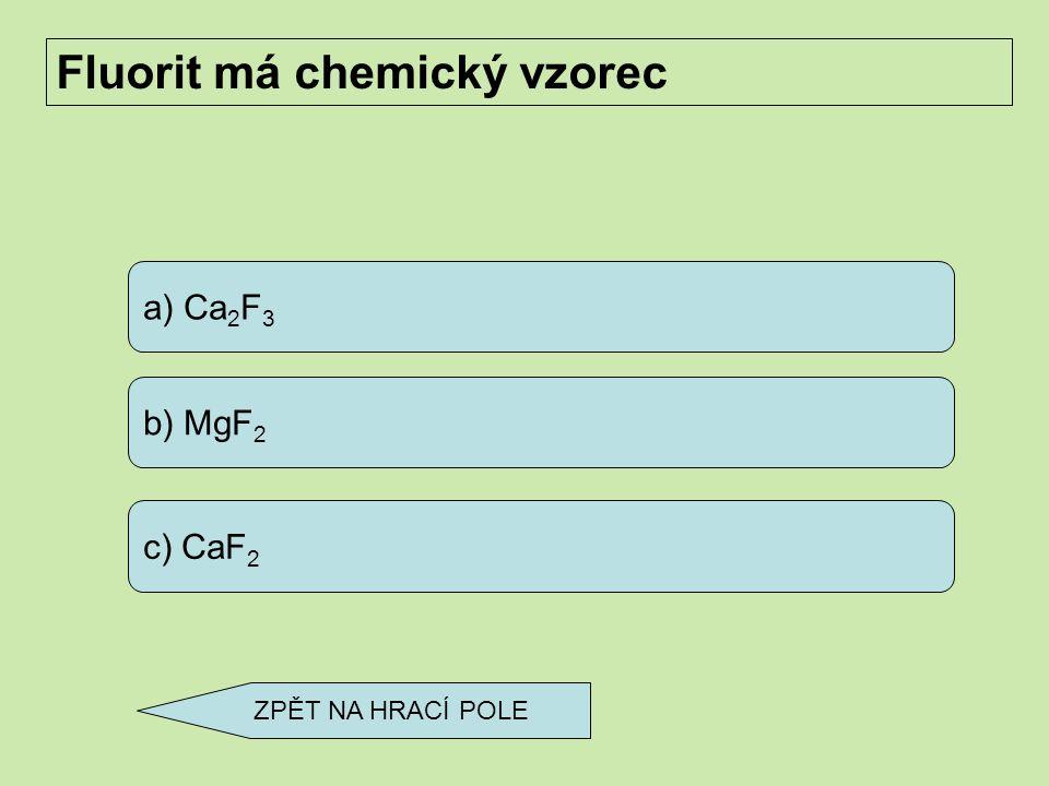 a) galenit b) sfalerit c) pyrit Jedinou rudou olova je ZPĚT NA HRACÍ POLE