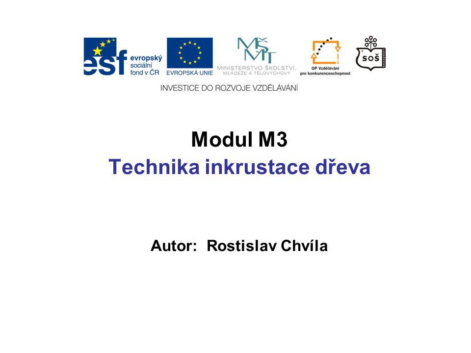 Modul M3 Technika inkrustace dřeva Autor: Rostislav Chvíla