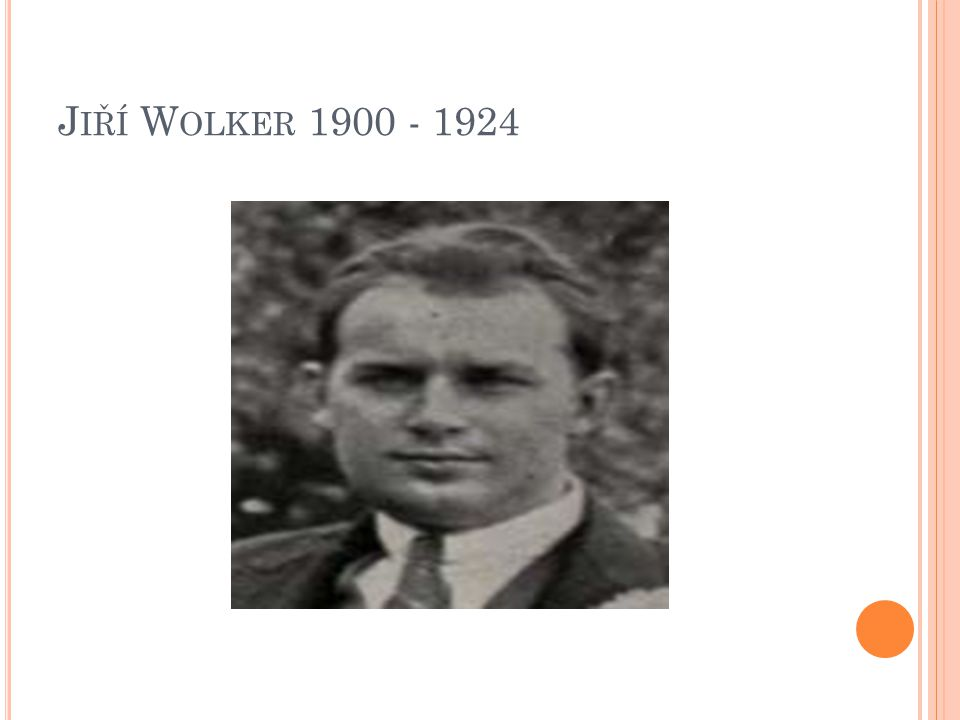 J IŘÍ W OLKER 1900 - 1924