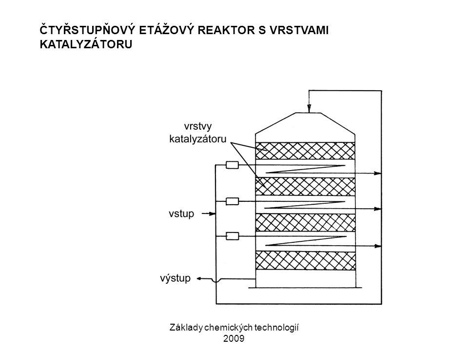 Základy chemických technologií 2009 ČTYŘSTUPŇOVÝ ETÁŽOVÝ REAKTOR S VRSTVAMI KATALYZÁTORU