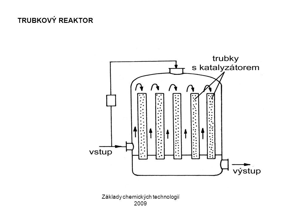 Základy chemických technologií 2009 TRUBKOVÝ REAKTOR