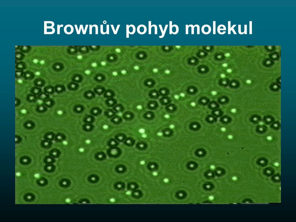 Brownův pohyb molekul