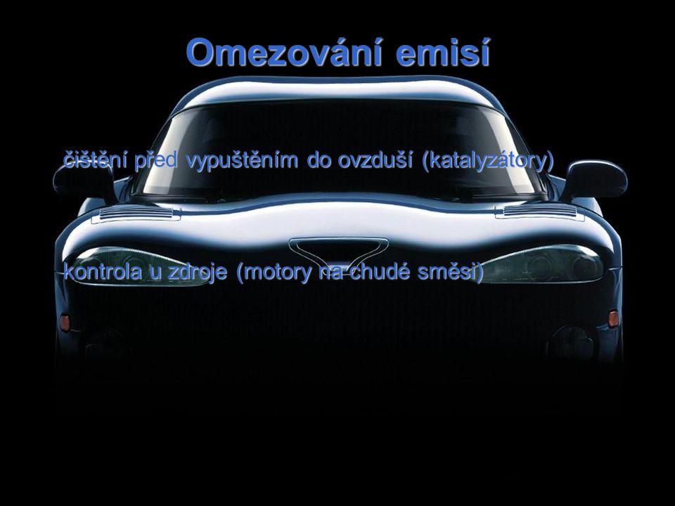 Omezování emisí čištění před vypuštěním do ovzduší (katalyzátory) kontrola u zdroje (motory na chudé směsi)