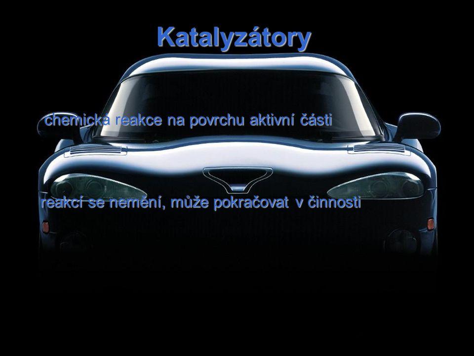 Katalyzátory chemická reakce na povrchu aktivní části reakcí se nemění, může pokračovat v činnosti