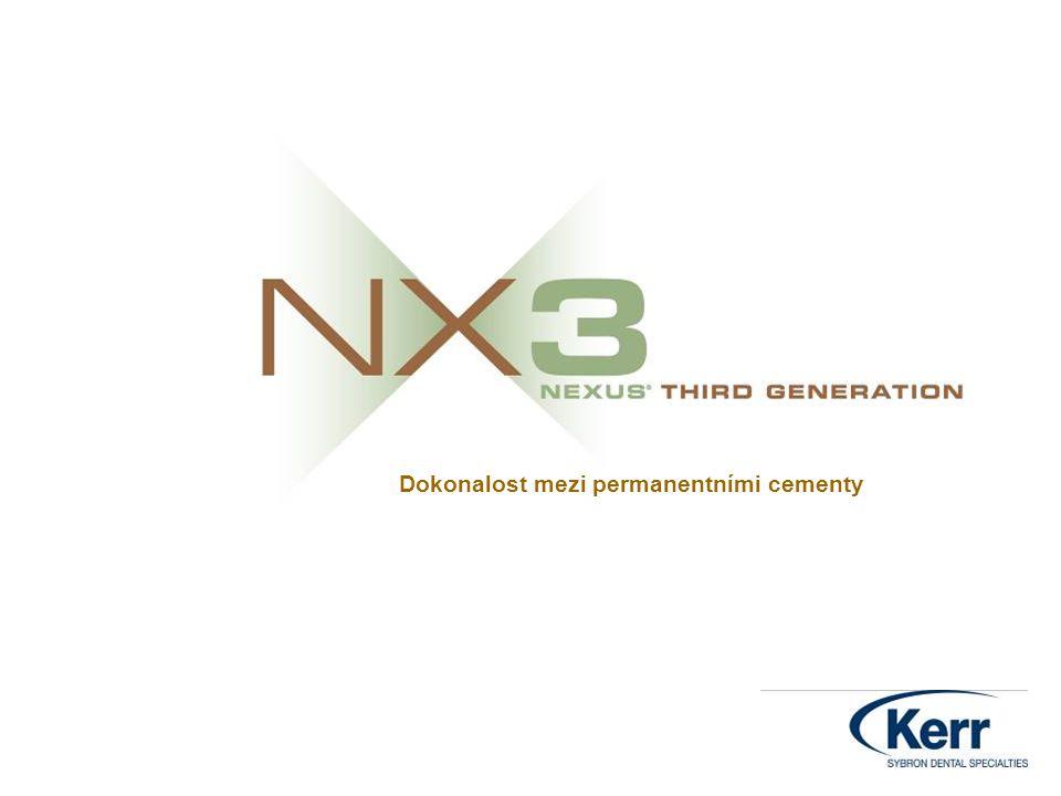 Objem plniva v hm.% NX3 duální pol.: 67,5 % NX3 světlem pol.: 71,7 % Calibra: 62-67 % RelyX Arc:67,5 % Multilink:68%