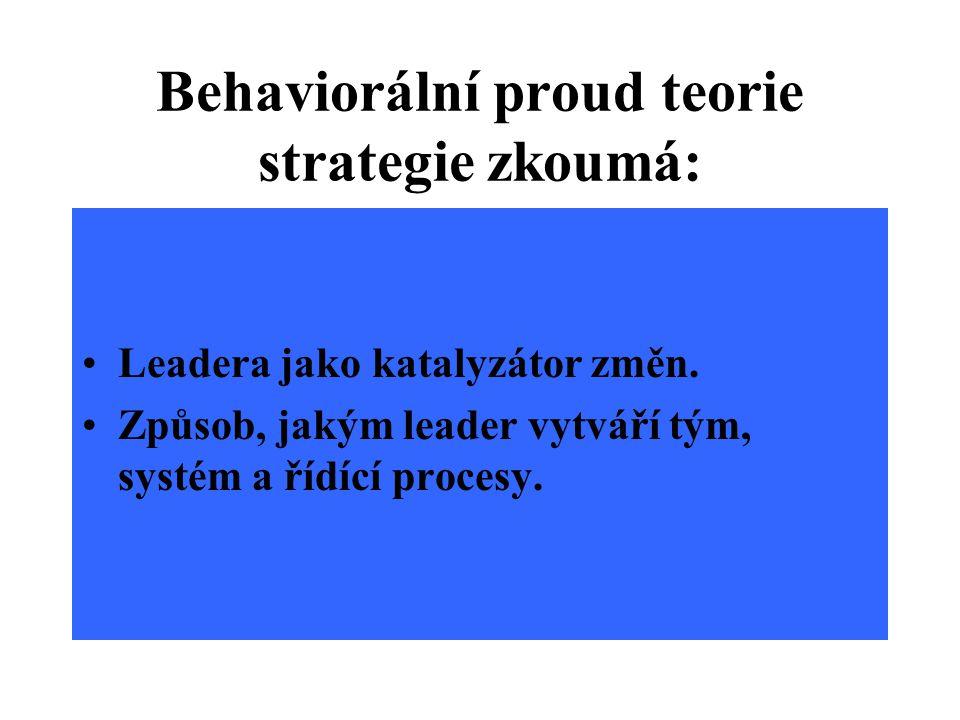 Systémový proud v teorii strategie zkoumá: Kulturní a historický podtext vůdcovství.