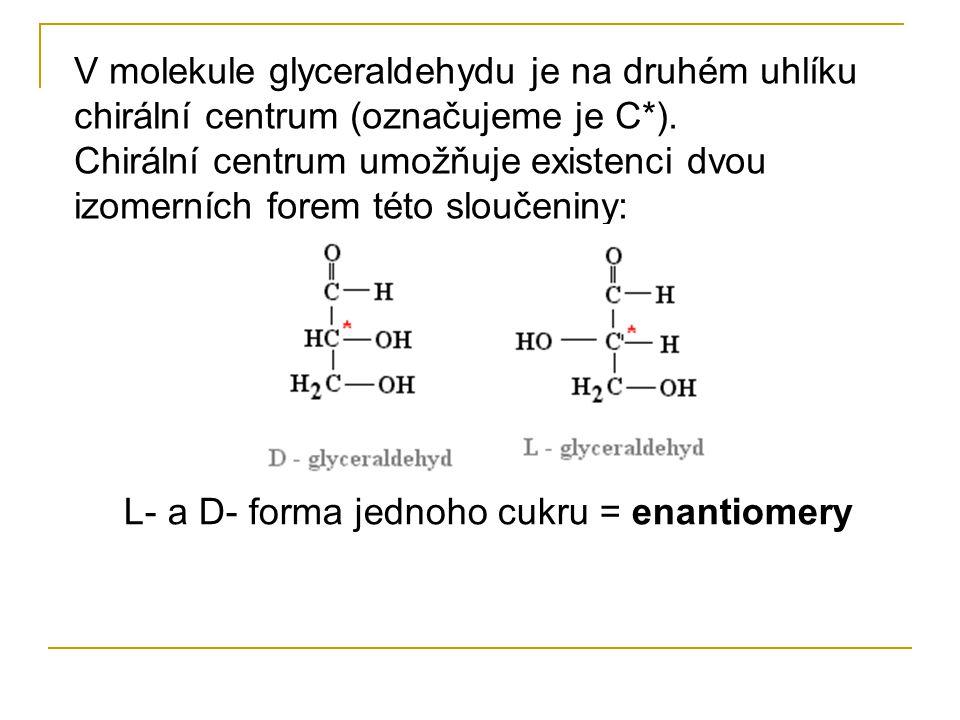 Monosacharidy, lze také požadovat za oxidační produkty vícesytných alkoholů. Nejjednodušším cukerným alkoholem je glycerol. Jeho oxidací (dehydrogenac