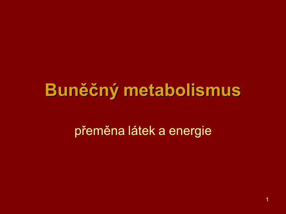 1 Buněčný metabolismus přeměna látek a energie