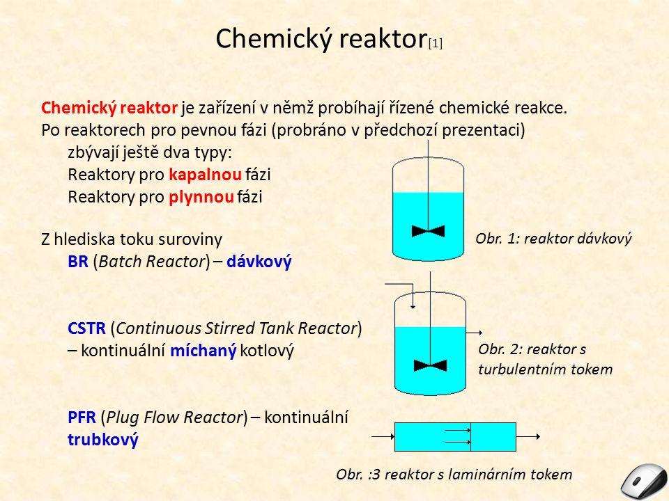 Reaktory pro kapalnou fázi [2] Reaktory určené pro kapalnou fázi lze dělit na: Promíchávané kotlové reaktory – společným znakem je přítomnost míchadla.