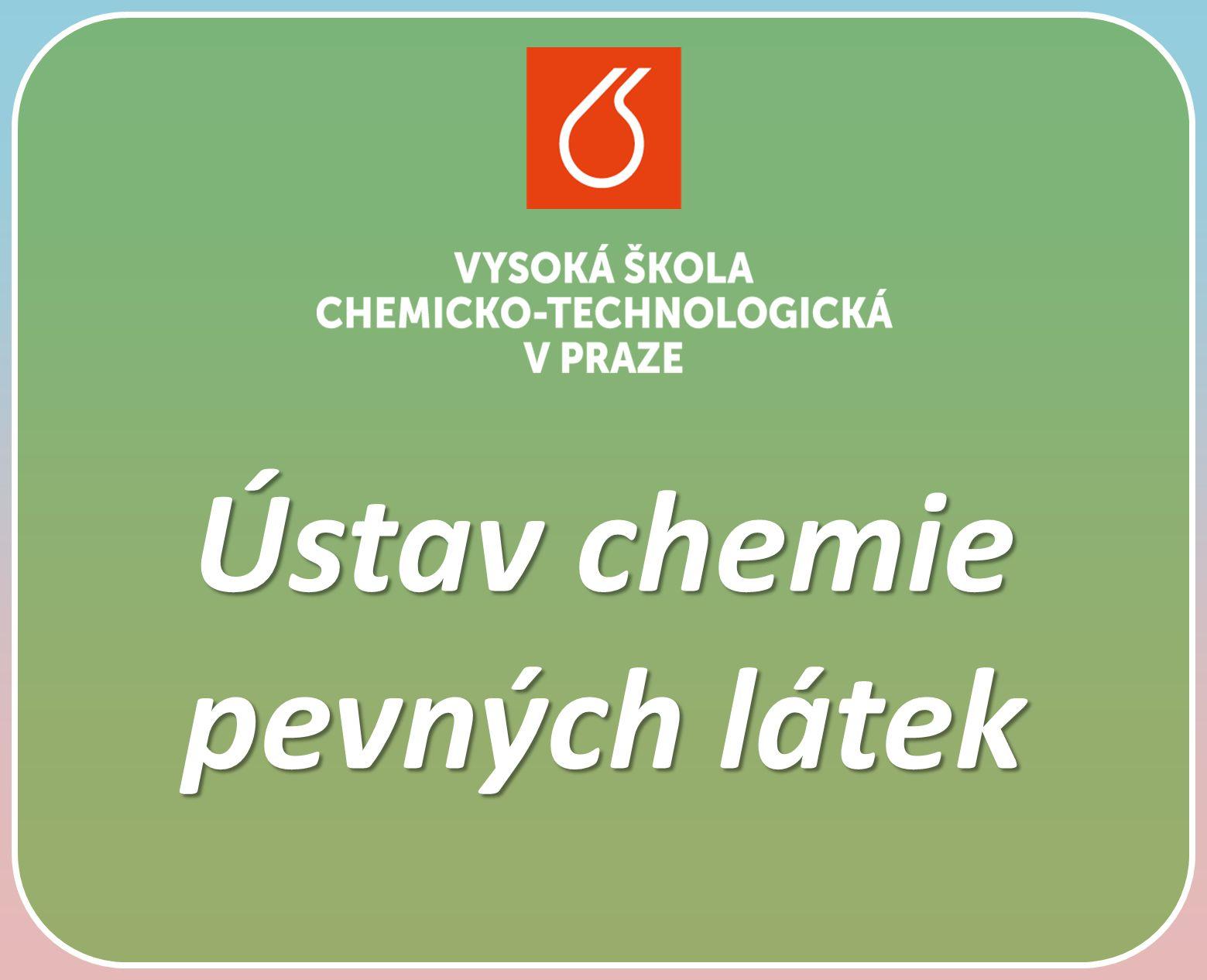Ústav s mnohaletou tradicí a moderním zaměřením Ústav chemie pevných látek je nástupcem dřívější Katedry mineralogie.