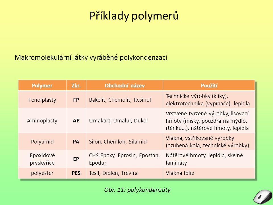 Příklady polymerů Obr.