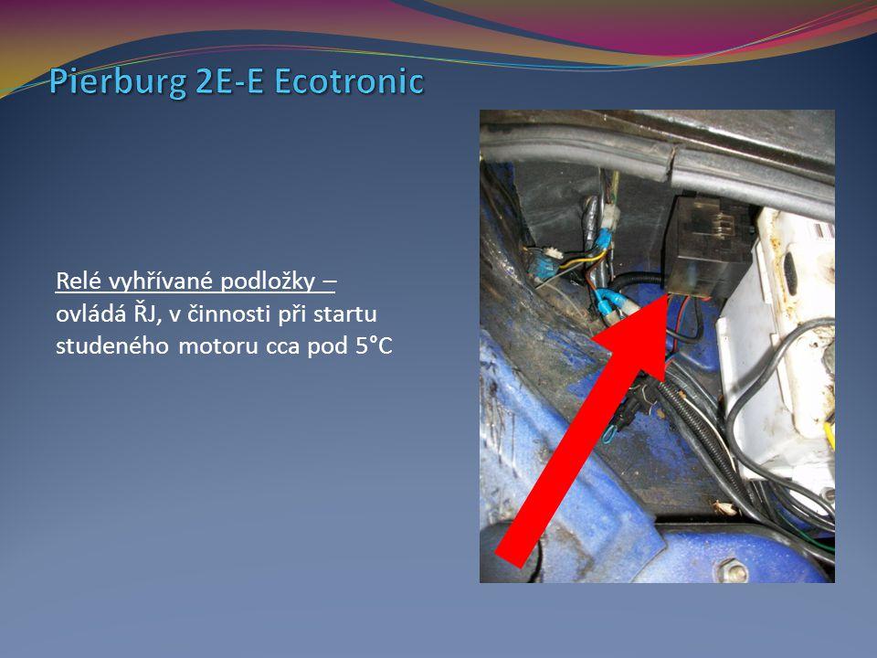 Relé vyhřívané podložky – ovládá ŘJ, v činnosti při startu studeného motoru cca pod 5°C