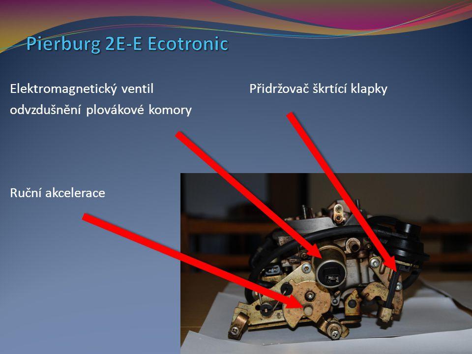 Elektromagnetický ventil Přidržovač škrtící klapky odvzdušnění plovákové komory Ruční akcelerace